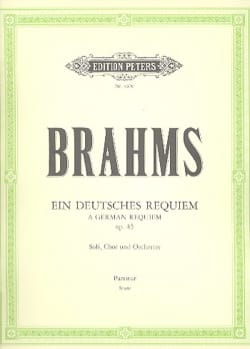 Ein deutsches Requiem op. 45 - Score - BRAHMS - laflutedepan.com