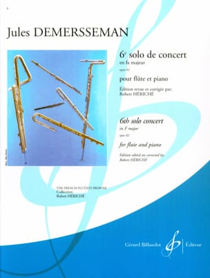 Jules Demersseman - 6th Solo concert F major op. 82 - Piano flute - Sheet Music - di-arezzo.com