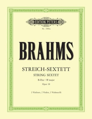 BRAHMS - Streich-Sextett B-Dur op. 18 - Stimmen - Sheet Music - di-arezzo.co.uk