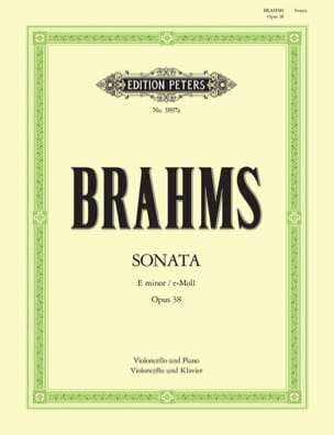 BRAHMS - Sonata in mi minore op. 38 - Partitura - di-arezzo.it