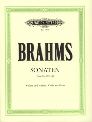 BRAHMS - Sonatas for violin and piano - Sheet Music - di-arezzo.com