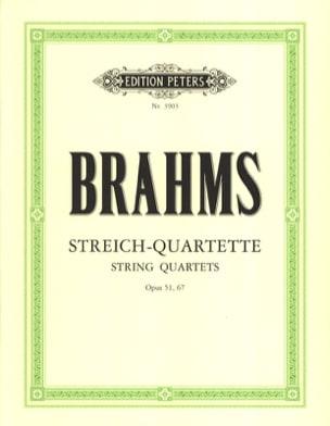 Streichquartette op. 51, 67 -Stimmen BRAHMS Partition laflutedepan