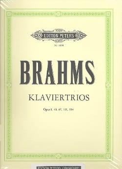 Klaviertrio op. 8, 40, 87, 101, 114 - BRAHMS - laflutedepan.com