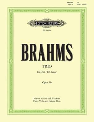 Johannes Brahms - Trio Es op. 40 –Violine Waldhorn Klavier - Partition - di-arezzo.fr