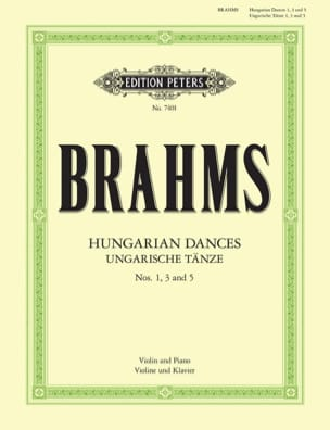BRAHMS - Ungarische Tänze n ° 1, 3 and 5 - Sheet Music - di-arezzo.com