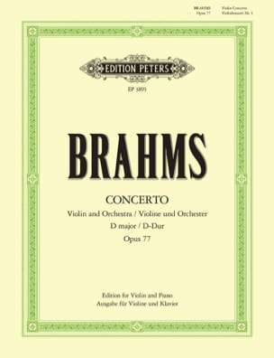 BRAHMS - Violin Concerto Op. 77 In D Major - Sheet Music - di-arezzo.co.uk