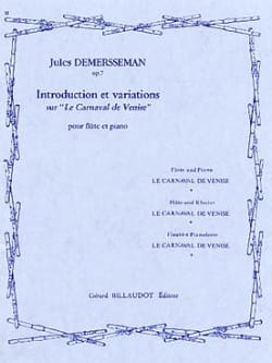 Introduction et variations sur Le Carnaval de Venise op. 7 laflutedepan