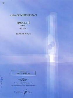 Jules Demersseman - Simplicité op. 28 n° 2 - Partition - di-arezzo.fr