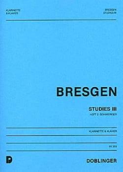 Cesar Bresgen - Studies III - Klarinette Klavier - Sheet Music - di-arezzo.com
