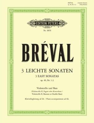 Jean-Baptiste Bréval - Drei leichte Sonaten op. 40 n° 1-3 - Partition - di-arezzo.fr
