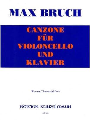 Canzone - Violoncelle BRUCH Partition Violoncelle - laflutedepan