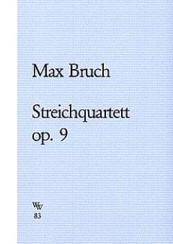 Streichquartett op. 9 -Stimmen BRUCH Partition laflutedepan