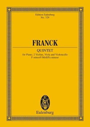Quintette en fa mineur - César Franck - Partition - laflutedepan.com