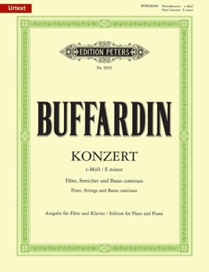 Pierre-Gabriel Buffardin - Flötenkonzert e-moll - Flöte Klavier - Sheet Music - di-arezzo.co.uk