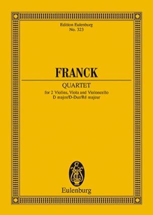 Streichquartett D-Dur -Partitur FRANCK Partition laflutedepan