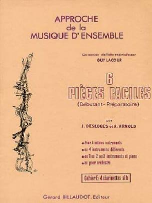 6 Pièces faciles - Vol E : Clarinettes - laflutedepan.com