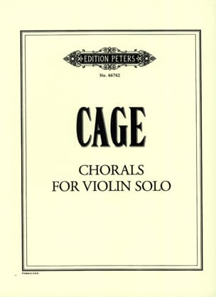 Chorals for violin solo - CAGE - Partition - Violon - laflutedepan.com