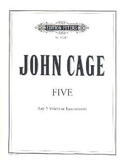 John Cage - Five 1988 - Sheet Music - di-arezzo.com