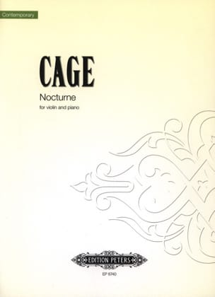 Nocturne - CAGE - Partition - Violon - laflutedepan.com