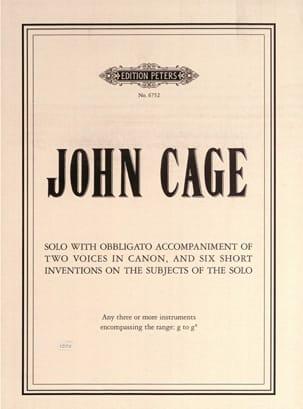 Solo with obbligato accompaniment... - CAGE - laflutedepan.com