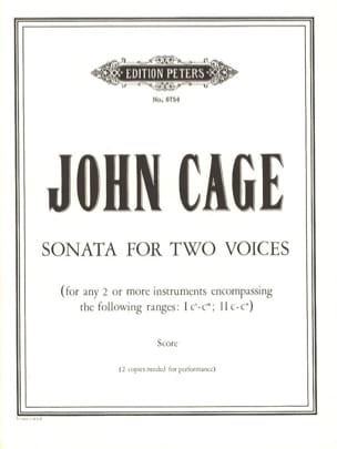 John Cage - Sonata for Two Voices - Partition - di-arezzo.fr