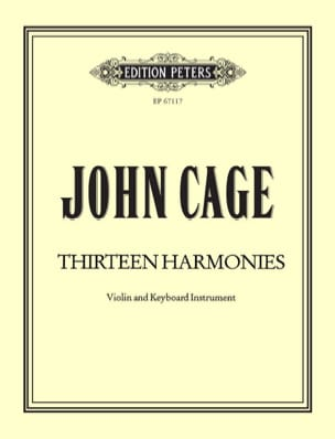Thirteen Harmonies - CAGE - Partition - Violon - laflutedepan.com