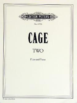 Two - Flute and piano CAGE Partition Flûte traversière - laflutedepan