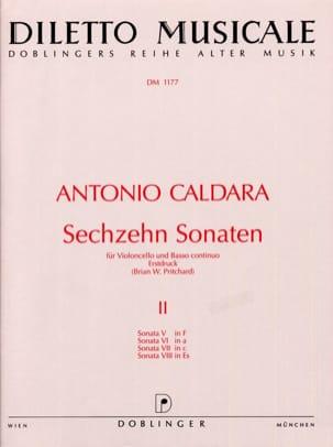 16 Sonaten Vol.2 Antonio Caldara Partition Violoncelle - laflutedepan