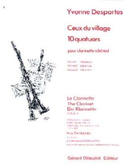 Ceux du village (10 quatuors) - Volume 1 - laflutedepan.com