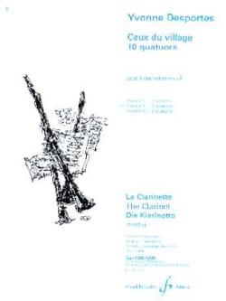 Yvonne Desportes - Ceux du village (10 quatuors) – Volume 2 - Partition - di-arezzo.fr