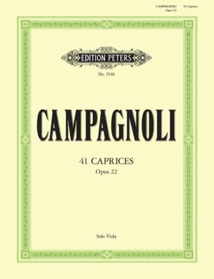 Bartolomeo Campagnoli - Caprice Op. 22 - Partition - di-arezzo.co.uk
