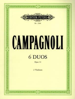 6 Duos op. 14 Bartolomeo Campagnoli Partition Violon - laflutedepan