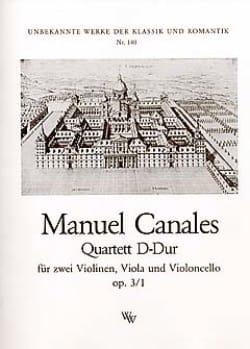 Manuel Canales - Quartett D-Dur op. 3 n ° 1 - Stimmen - Sheet Music - di-arezzo.com