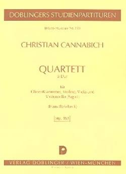 Christian Cannabich - Quartett B-Dur – Partitur - Partition - di-arezzo.fr