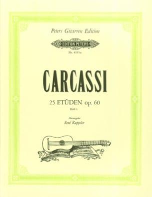 Matteo Carcassi - Etden op. 60 - Heft1 - Sheet Music - di-arezzo.com