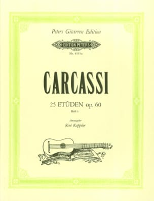Matteo Carcassi - 25 Etüden op. 60 -Heft1 - Partition - di-arezzo.fr