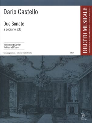 Dario Castello - Due Sonate - Partition - di-arezzo.fr