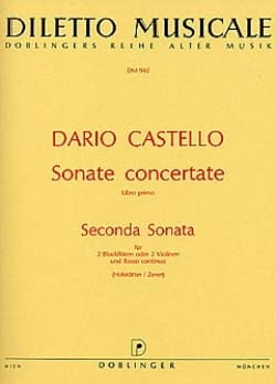 Seconda Sonata (Sonate concertante, Libro 1) –2 Blockflöten Bc - laflutedepan.com