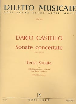 Dario Castello - Terza Sonata (Sonate concertante, Libro 1) -2 Blockflöten Bc - Partition - di-arezzo.fr