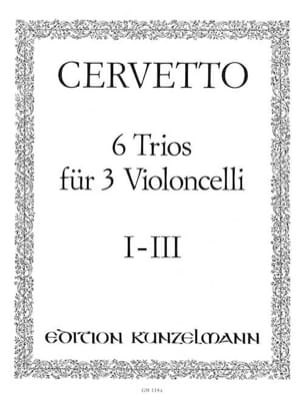 6 Trios für 3 Violoncelli, Bd.1 - 1-3 Giacomo Cervetto laflutedepan