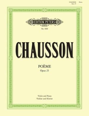 Ernest Chausson - Poème op. 25 (Flesch) - Partition - di-arezzo.fr
