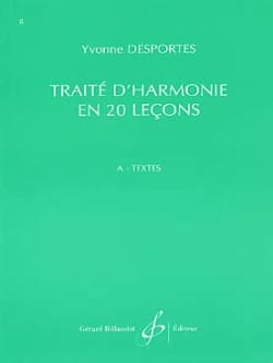 Yvonne Desportes - Harmony In 20 Lecons - Additional Duties - Texts - Sheet Music - di-arezzo.co.uk