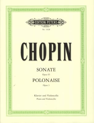 CHOPIN - Sonata op. 65 / Polish op. 3 - Sheet Music - di-arezzo.co.uk