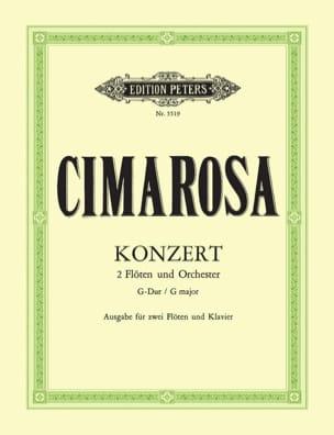 Konzert G- Dur -2 Flöten Klavier CIMAROSA Partition laflutedepan