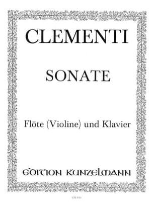 Sonate G op. 2 n° 3 - Flöte Violine Klavier CLEMENTI laflutedepan