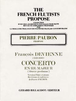 François Devienne - Concerto en ré majeur (oeuvre posthume) – Flûte piano - Partition - di-arezzo.fr