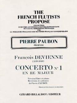 Concerto n° 1 en ré majeur - Flûte piano DEVIENNE laflutedepan