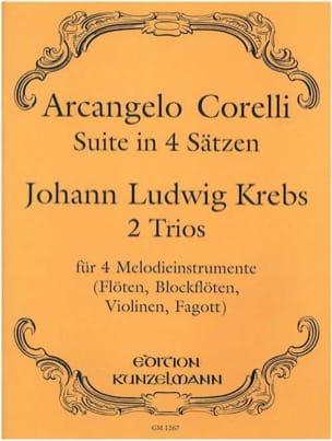Corelli Arcangelo / Krebs Johann Ludwig - Suite in 4 Sätzen / 2 Trios – 4 Melodieinstrumente - Partition - di-arezzo.fr