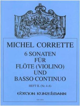 Michel Corrette - 6 Sonaten op. 13 - Heft 2 –Flöte (Violine) u. Bc - Partition - di-arezzo.fr