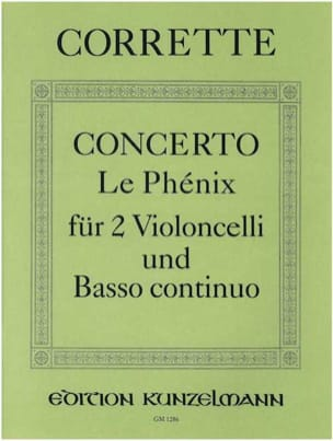 Michel Corrette - Concerto The Phoenix - 2 Violoncelli u. Bc - Sheet Music - di-arezzo.co.uk